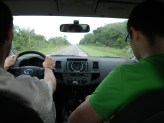Driving to Laussat