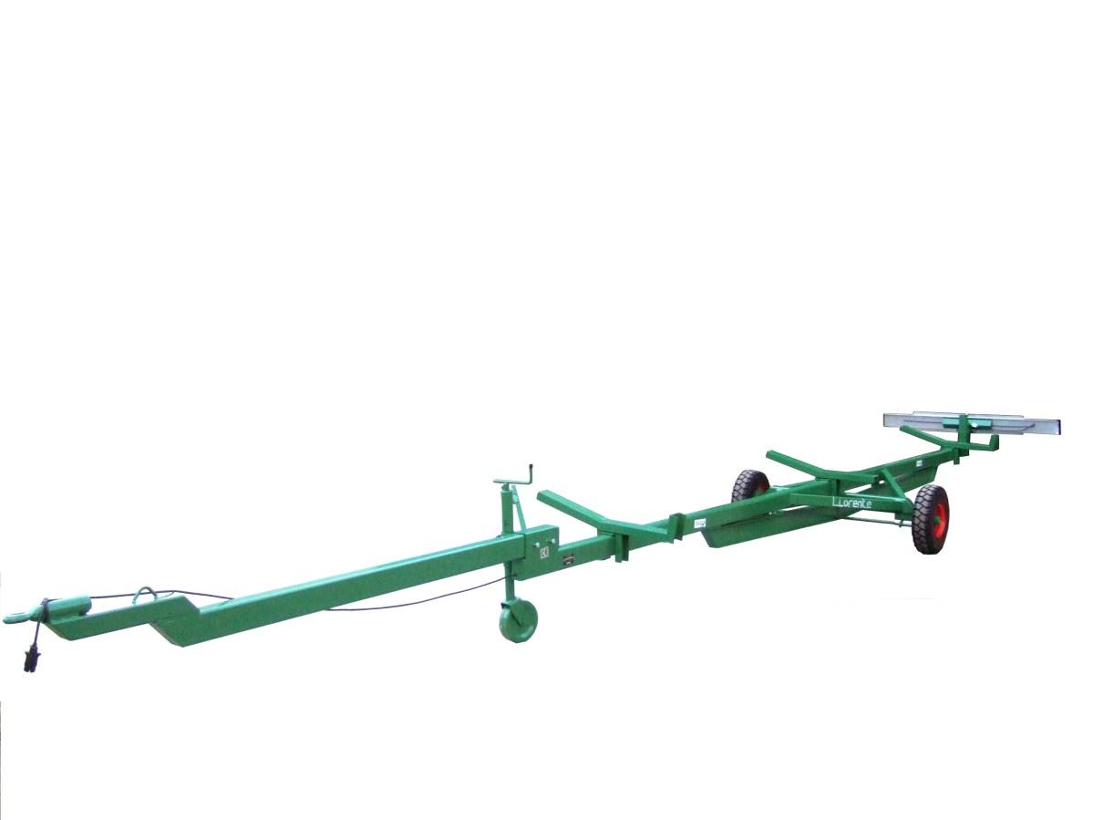 carro porta peine de cosechadora con 1 eje y dos ruedas