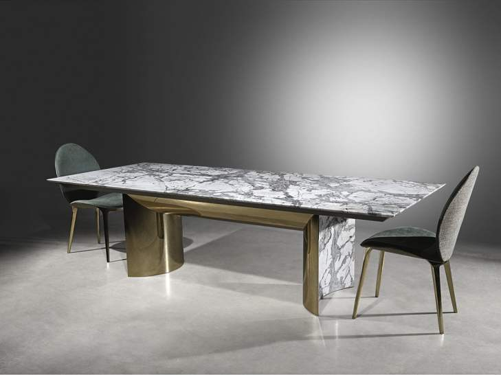 luxury marble table by italian designer visionnaire