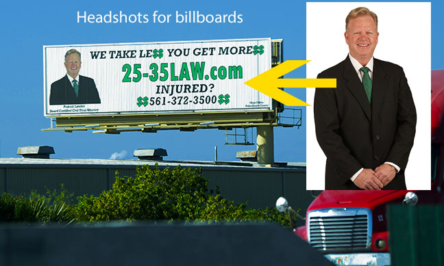 headshots for billboard advertising