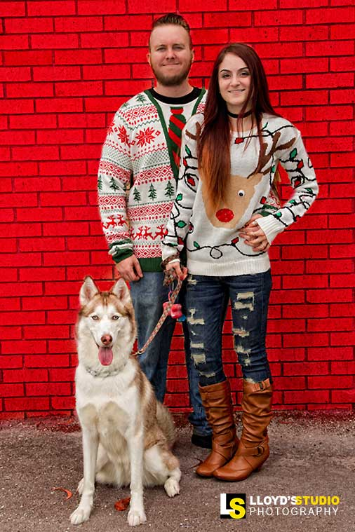 holiday portraits , Ugly Christmas Sweater Family Portrait