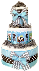 Little Golden Book Diaper Cake