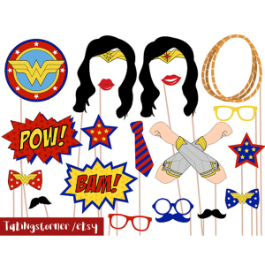 Wonder Woman Photo Booth Props