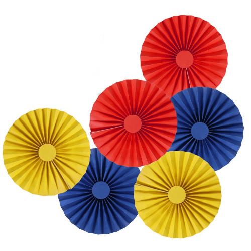 Rosette Pinwheels Hanging Paper Decor Trio Kit