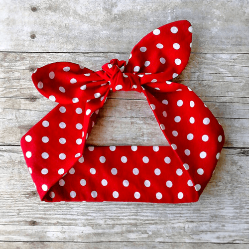 Rosie the Riveter retro rockabilly headband