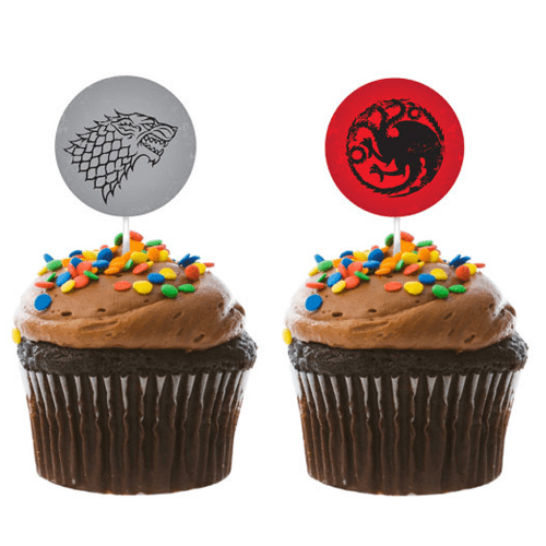1.5″ DIY Game Of Thrones House Sigil Cupcake Toppers, Instant Download
