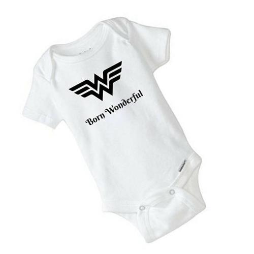 Wonder Woman Baby Onesie – Born Wonderful