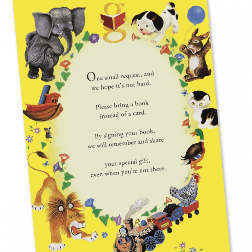Little Golden Book Shower  – Book Card Insert