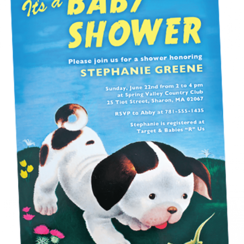 Pokey Little Puppy Baby Shower Invitation
