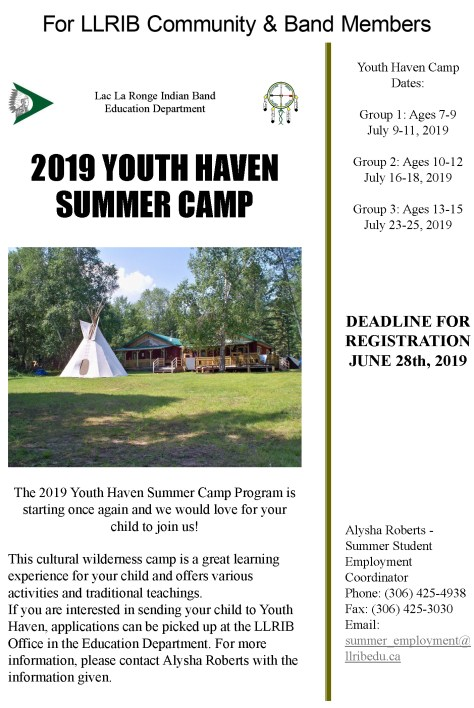 The 2019 Youth Haven Summer Camp Program is starting once again and we would love for your child to join us!