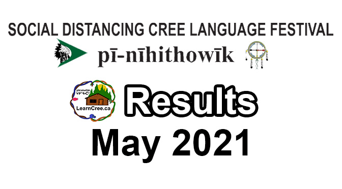WINNERS of Social Distance Cree Language Festival May 3rd to May 6th, 2021