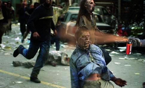 Lt John Pike pepper spraying cop spraying zombies