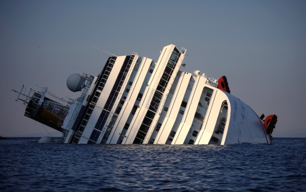 View of the Costa Concordia taken on January 14, 2012. Filippo Monteforte/AFP/Getty Images