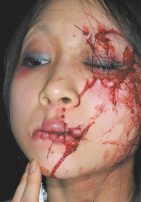 Eye and mouth sewn shut body modification Japan 1