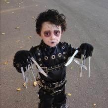 kid edward scissorhands costume