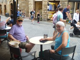 Both pictures were taken in San Gimignano