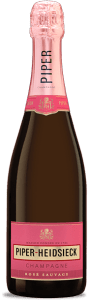 Piper-Hiedsieck Champagne Rosé Sauvage is a blend of 50-60% Pinot Noir, 20-25% Pinot Meunier, and 10-15% Chardonnay.