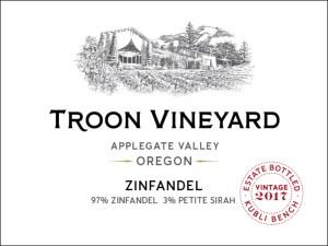 Troon Vineyard Zinfandel contains 3% Petite Sirah.