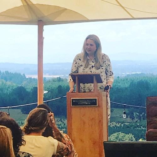 """Women in Wine: Fermenting Change in Oregon"" keynote speaker Cheryl Strayed, bestselling author of ""Wild."""
