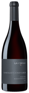 La Crema Saralee's Pinot Noir is sourced from a single vineyard site named after legendary California wimemaker Saralee Kunde.