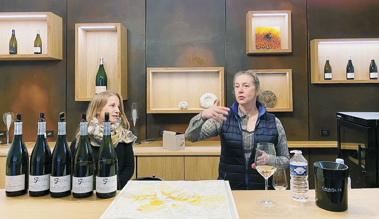 Nathalie Fevre of Domaine Nathalie et Gilles Fevre and her daughter, Julie. Photo by L.M. Archer