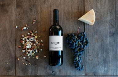 Tentua Sette Cielo Scipio Super Tuscan wine is made from 100% Cabernet Franc.