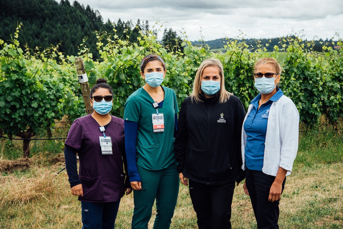 ¡Salud! The Pinot Noir Auction helps fund Oregon's ¡Salud! vineyard worker healthcare program