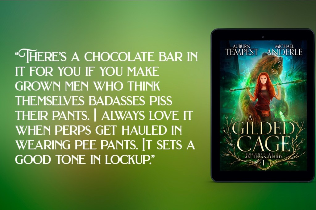 a gilded cage quote banner