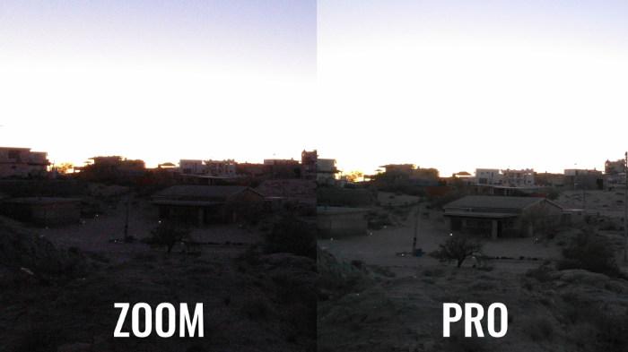 Mavic 2 Pro vs Zoom faible lumiere