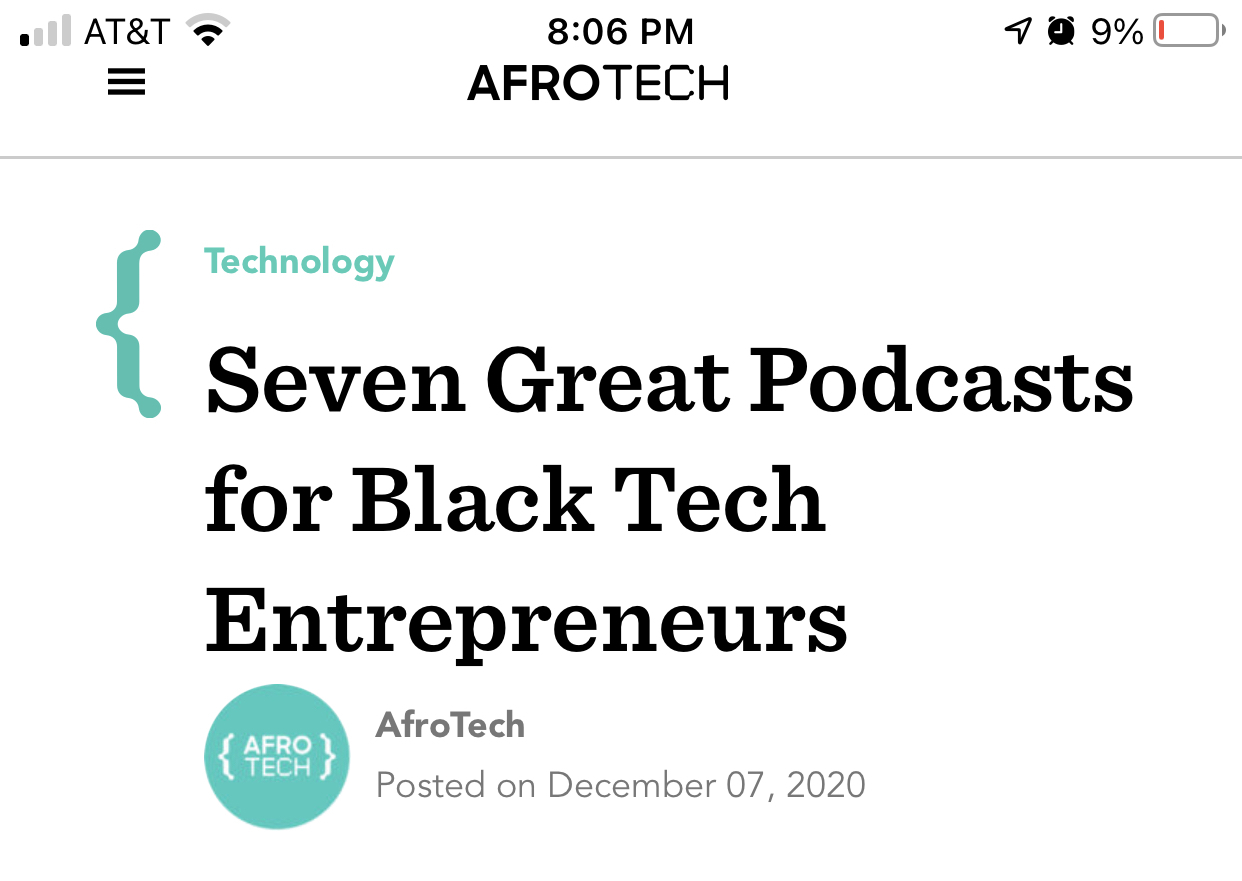 Afrotech Calls The Culture Soup Podcast One of the Best Podcasts for Black Tech Entrepreneurs