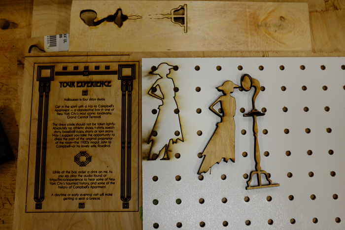 Pieces just off the laser cutter.