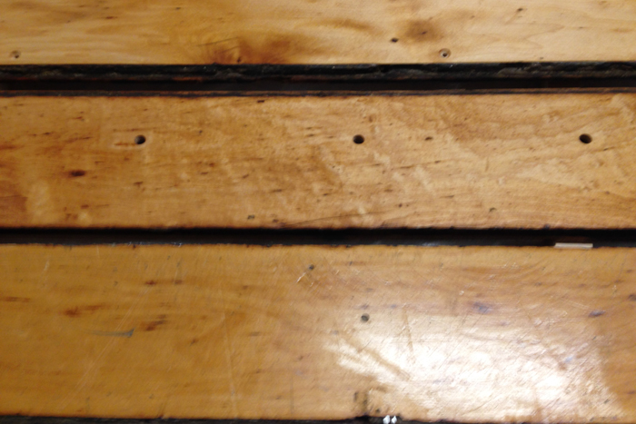 Top two boards finished with tung oil Bottom board is original finish.