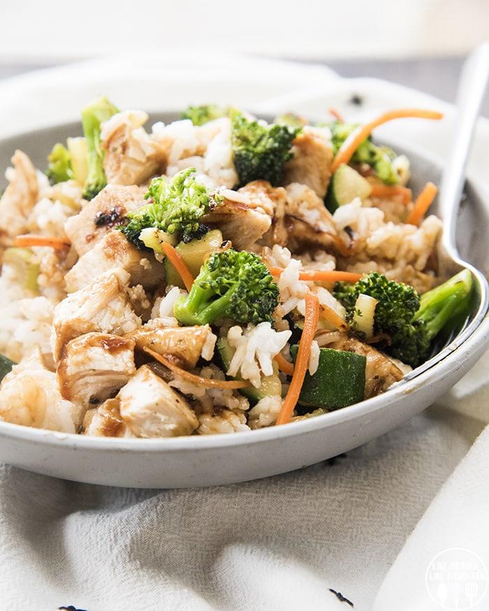 Chicken and Rice Bowl with Hawaiian Teriyaki sauce