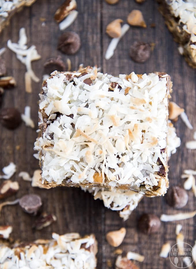 Seven layer bars with only seven ingredients are a must make cookie bar treat!