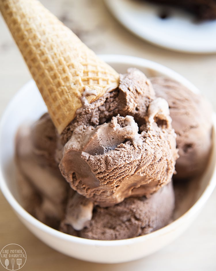 A bowl of chocolate ice cream is the perfect way to cool down