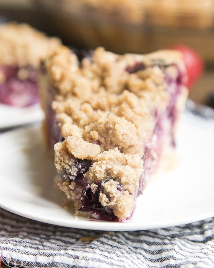 Berry Custard Pie with Streusel Topping