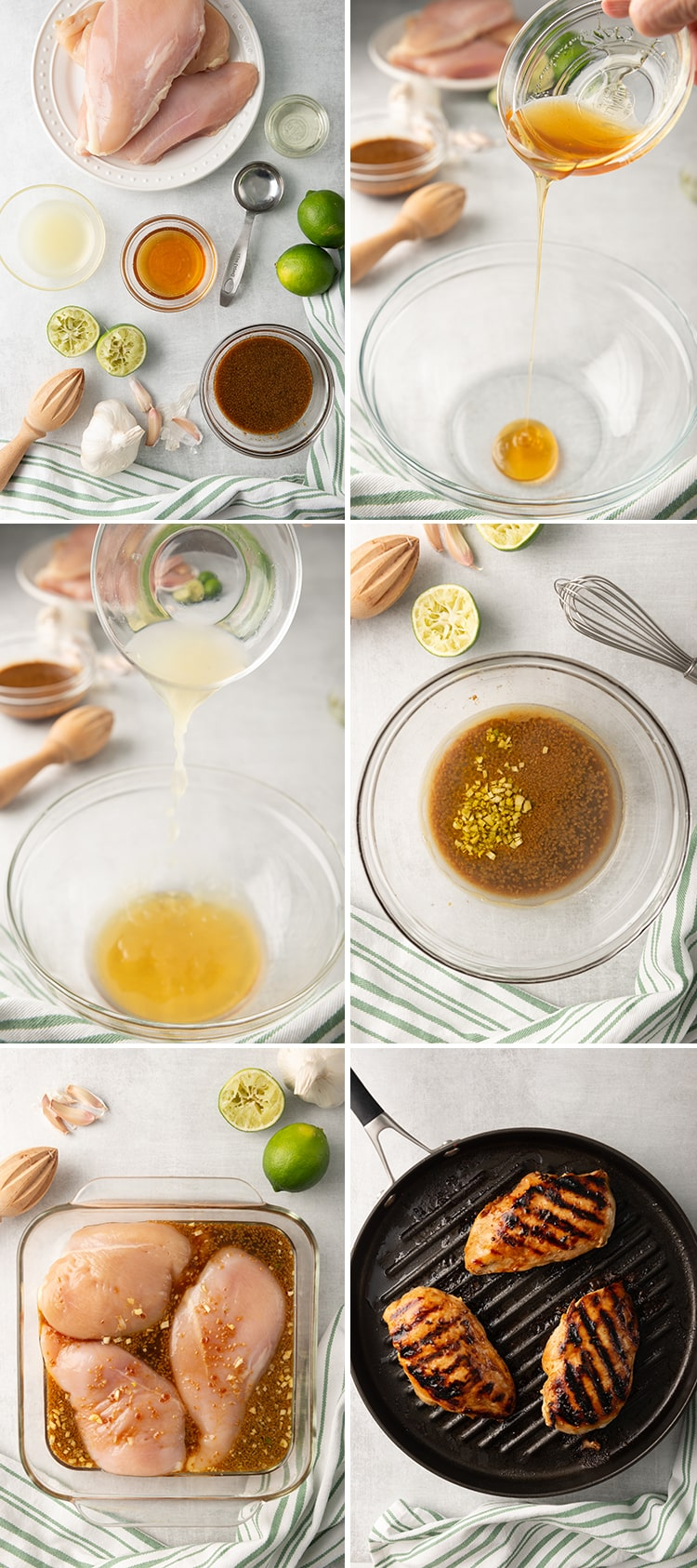 Step by step photos how to make honey lime chicken