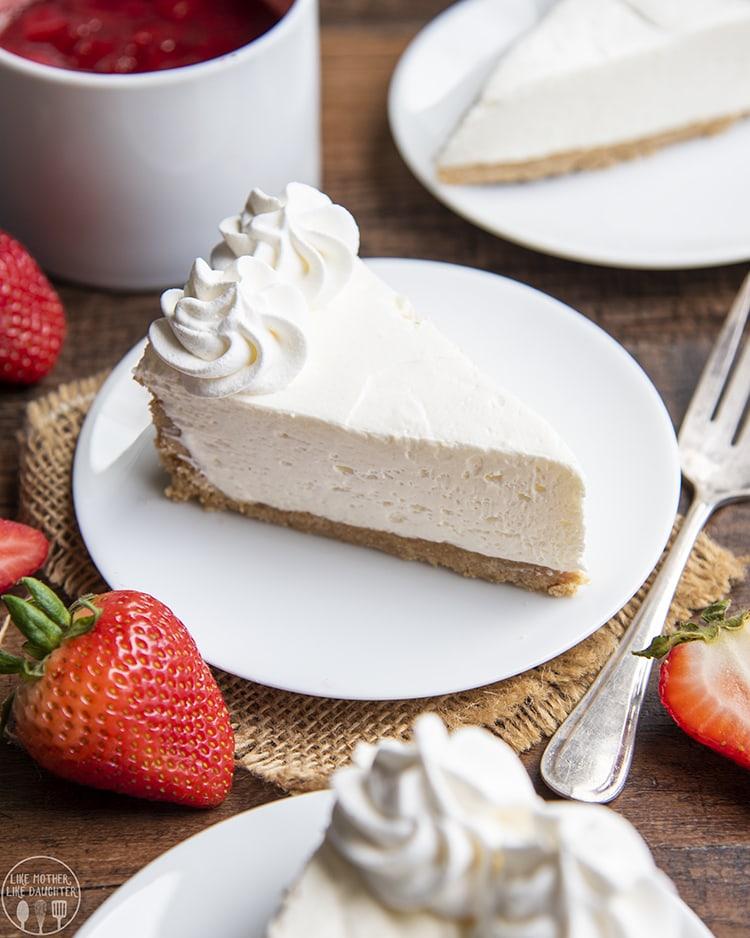 The creamiest no bake cheesecake. The perfect dessert.