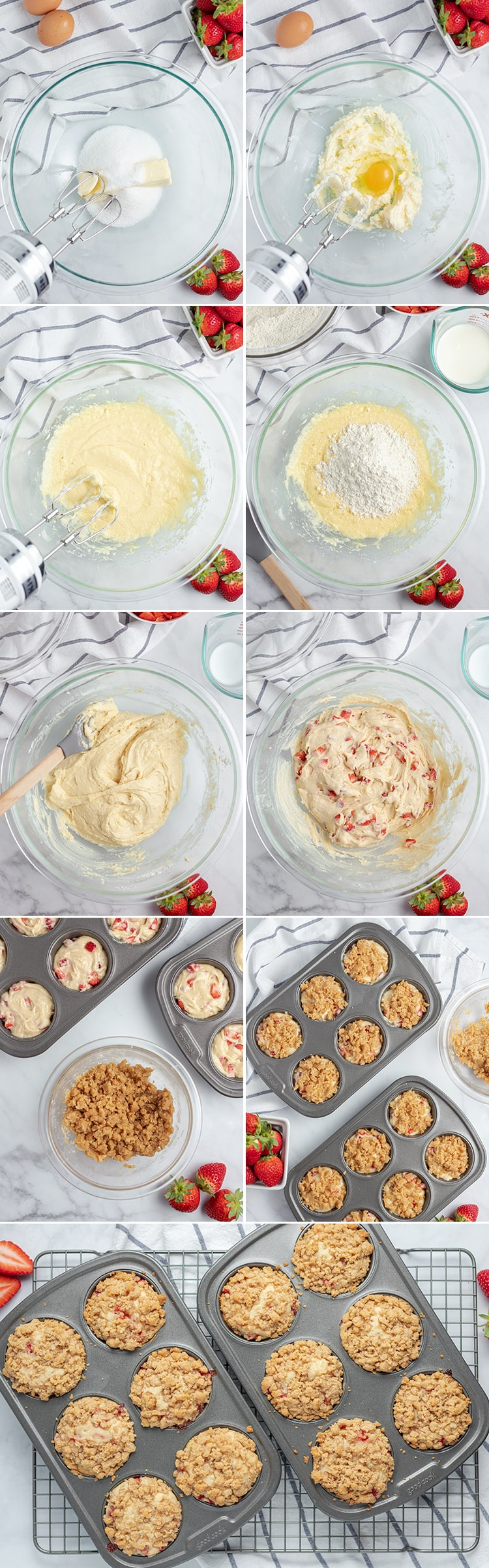 How to make strawberry muffins with step by step photos