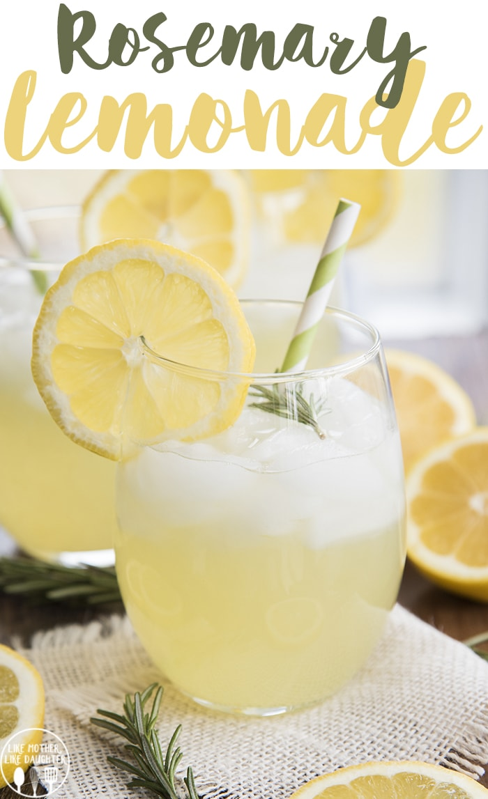 Rosemary lemonade is a refreshing drink with the light and sweet addition of fresh rosemary!