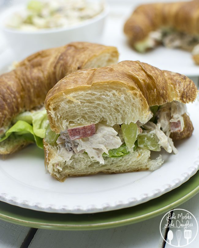 Chicken Salad Sandwich - These easy to make chicken salad sandwiches are so simple and tasty. Makes a lot, so its perfect for quick lunches or a pot luck.