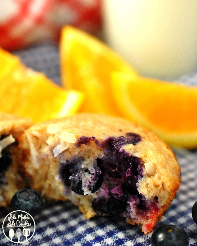 Blueberry Coconut Orange Muffins4