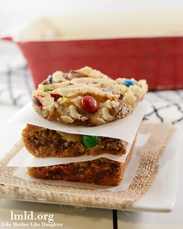 Candy Bar Cookie Bars