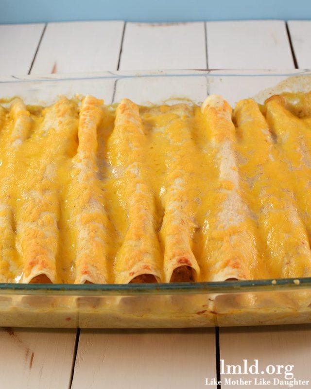 Honey Lime Chicken Enchiladas