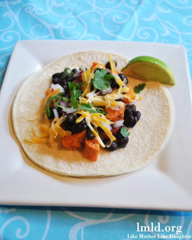 Black Bean Sweet Potato Tacos