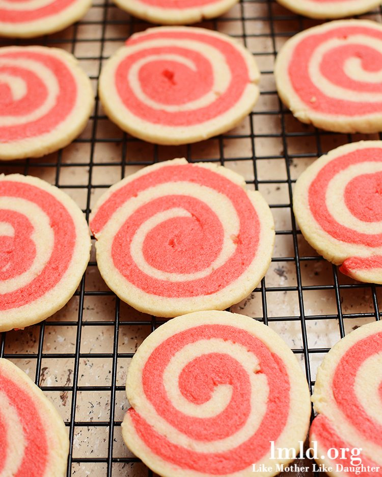 Valentine's Day Sugar Cookies Pinwheels