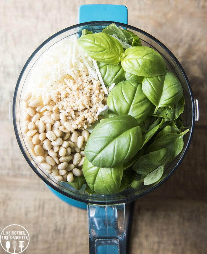 This pesto recipe is so easy to make with only 7 ingredients, its perfect for pasta, pizza, chicken, and more!