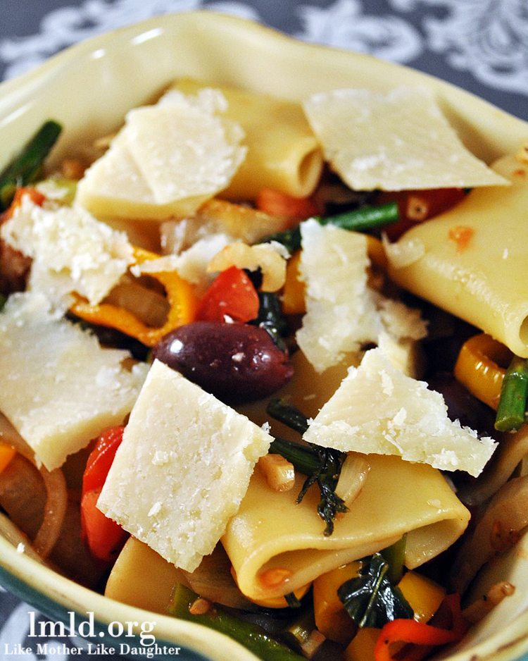 Schiaffoni Pasta with Vegetables