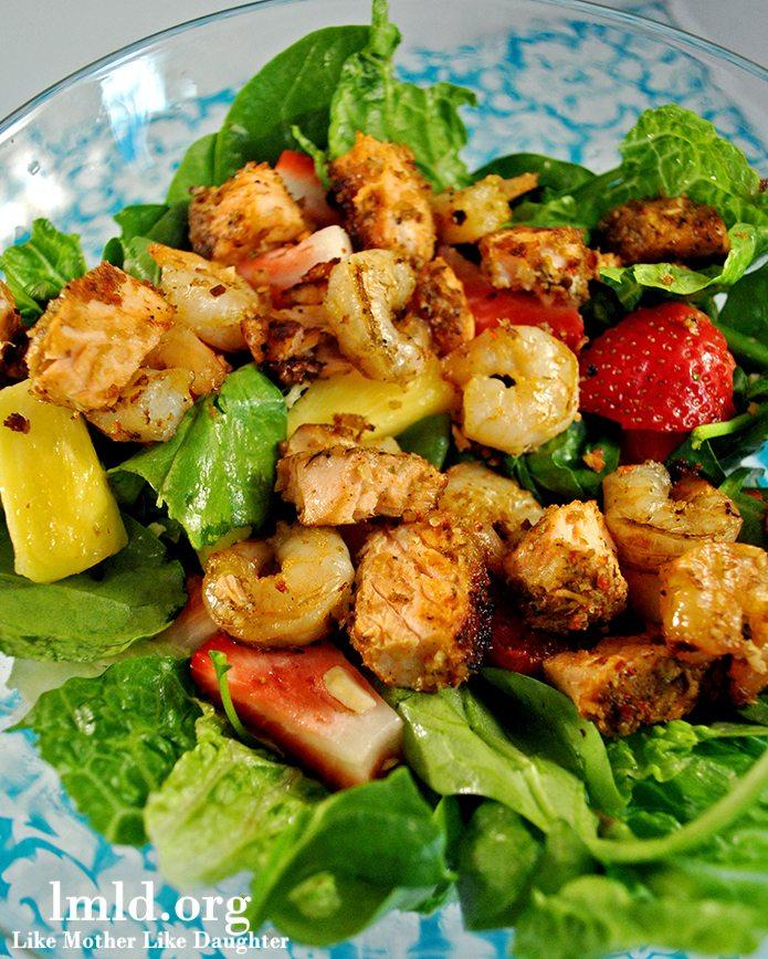 Seafood and Fruit Salad