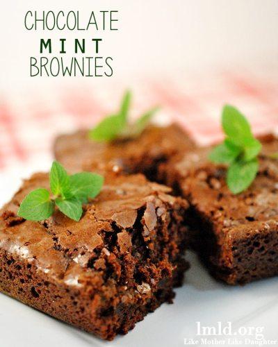 chocolate mint brownies3
